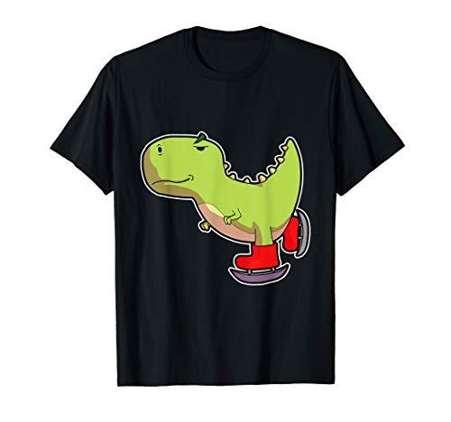 T-Rex Shirt Herren Kinder Schlittschuh Shirt Mädchen Dino T-Shirt