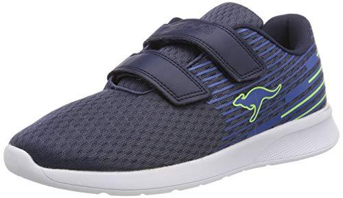 KangaROOS Unisex-Kinder KF Act V Sneaker, Blau (Dk Navy/Lime 4054), 37 EU