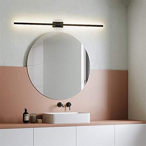 Waqihreu LED Espejo Luz Frontal, Luz de Pared de Baño Moderno LED Luz de Espejo de Baño Luz de Imagen Lámpara de Pared de Aluminio para Sala de Estar Pasillo Dormitorio Pasillo, Luz Tricolor, 12w/60c