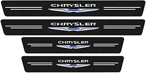 LZYYDS 4 Piezas Coche Fibra Umbral Puerta Pegatinas para Chrysler 300c 300...