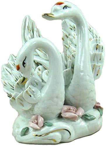 Artículos decorativos Estatuas de animales Estatuillas de jardín Estatua Adorno Vintage Máquina de escribir Estilo Música mecánica Caja de regalo Caja de cajón Decoración del hogar