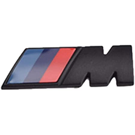 YHJGKO 2ST M Logo Adesivo Distintivo Fender ABS Style Car Auto M Potenza Distintivo dellemblema Fender Sticker per BMW E46 E39 E90 E36 E60 E34 E30 F30 F10 F15 E53 E38 E53 X5 X6 X3 X1 M3 M5