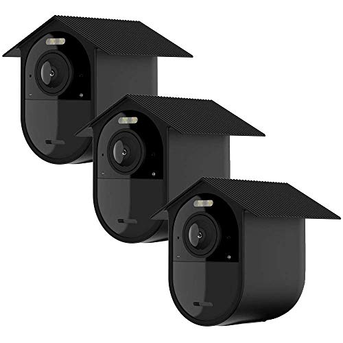 TIUIHU weerbestendige siliconen hoes (3 stuks) Voor Arlo Ultra 4K, siliconen hoes voor uw Arlo camera - anti-kras beschermhoes - extra bescherming zwart
