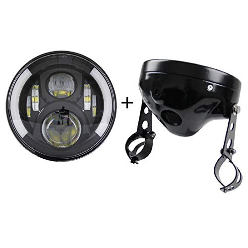 """SKTYANTS 7"""" 7 Inch led Headlights with 7 inch Housing Bucket DRL Turn Signal Lights Motorcycle for Harley Da-vidsion"""