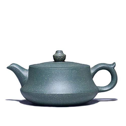 QCCOKNN - Tetera Hecha a Mano de Arcilla de Arena Morada de Kung fu, Juego de té de té de Color Morado y Verde Arcilla cerámica de bambú