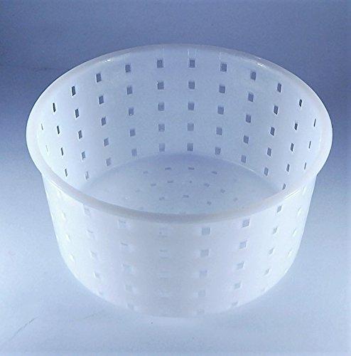 Forma plastica per formaggio Diametro: 13cm Altezza: 7cm Peso del formaggio: 0.9kg