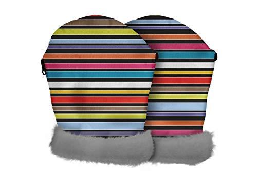 Tris & Ton – Manoplas impermeables para silla de paseo, guantes con forro polar (Monkey)