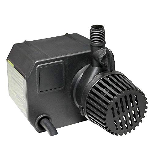 Beckett Corporation 250 GPH Submersible Pond Pump - Water Pump for Small Ponds, Fountains, Fish Tanks, and Aquariums - 7.1' Max Fountain Height, Black