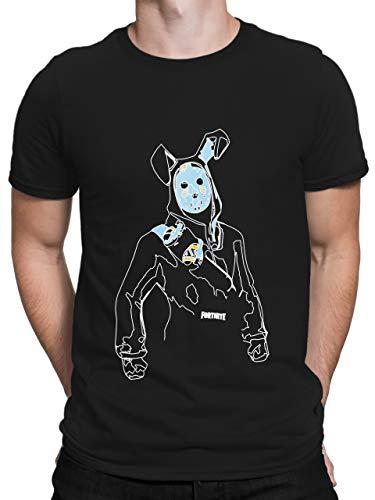 Fortnite Camiseta para Hombre Negro Talla X-Large