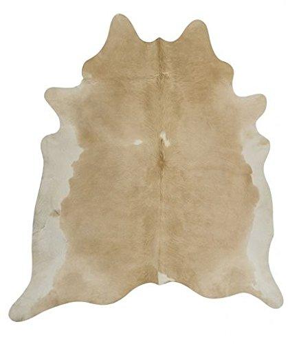 NaDeco Kuhfell beige weiß 3-4m² beige weißes Stierfell Kuhfellteppich Fellteppich Rinderfell...