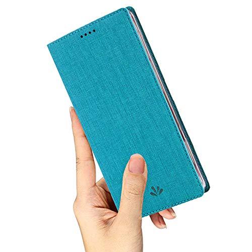 Yoodi Capa para Asus Zenfone Max Pro (M2) ZB631KL, capa flip ultrafina de couro premium para Asus Zenfone Max Pro (M2) ZB631KL capa com suporte para cartão com suporte magnético fechado - azul