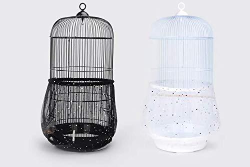 鳥 かご ケージ カバー 鳥籠 防塵 スプラッシュ プルーフ フェザー伸縮 通気 性 ナイロン 円 形 筒 シード キャッチャー 星 ラメ スター メッシュ ネット
