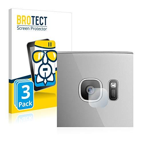 BROTECT Protector Pantalla Cristal Compatible con Samsung Galaxy S7 Edge (SÓLO Cámara) Protector Pantalla Vidrio (3 Unidades) - Dureza Extrema