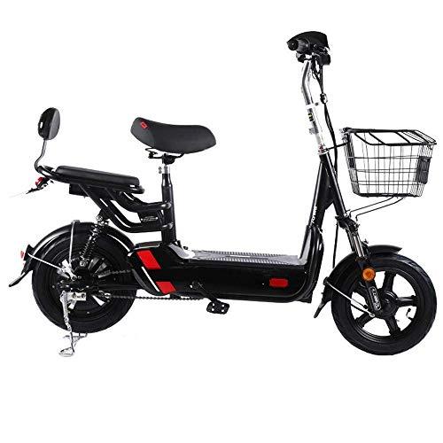 Dpliu-HW Elektrofahrräder Elektrofahrrad Batterie Auto for Männer und Frauen Kleines Elektrofahrrad Pedal Batterie Auto Batterielebensdauer 40 km (Color : Black)