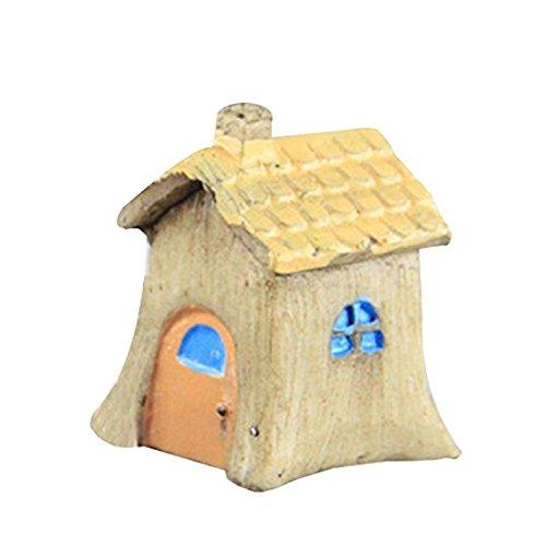 N A - Decoración de la casa de paisaje en miniatura para decoración de jardín al aire libre para el hogar, mejor regalo de planta verde (amarillo)