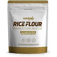 Harina de Arroz de HSN | Rice Flour | Energía Saludable 100% Natural | Formato de Finísima Textura en Polvo | Vegana, Sin Gluten, Sin Lactosa, Sin Soja, Sin Sabor, 3Kg