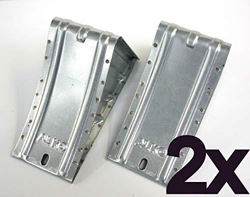 p4U ALKO Unterlegkeil 1 Paar verzinkt 1600 kg 120mm breit UK 36 Bremskeil Hemmschuh AL-KO 243.373 244373 244.376 244376