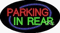 15x 27x 1cm背面にアニメーション点滅LEDウィンドウの駐車場サイン