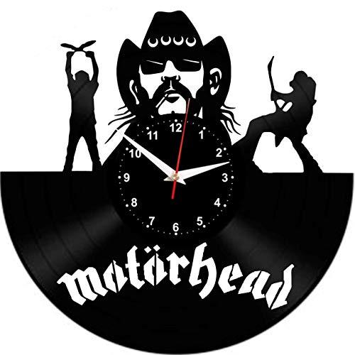 EVEVO Motorhead Wanduhr Vinyl Schallplatte Retro-Uhr Handgefertigt Vintage-Geschenk Style Raum Home Dekorationen Tolles Geschenk Wanduhr Motorhead