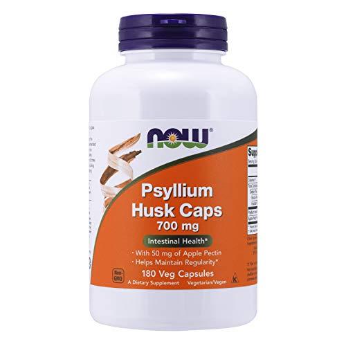 Now Foods | Flohsamenschalen | Psyllium Husk | 700 mg | 180 kapslar | glutenfri