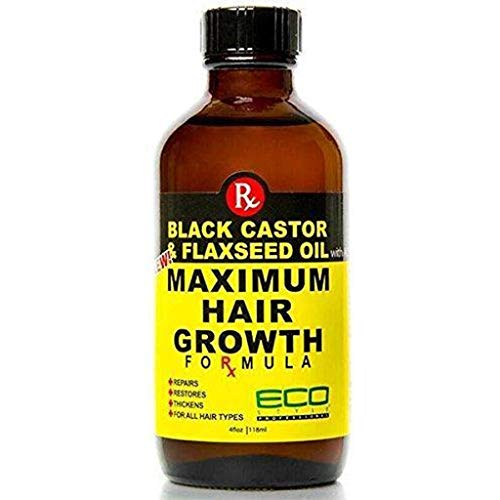 (120ml) - Eco Style Black Castor and Flaxseed Oil Maximum Hair Growth Formula, 120ml