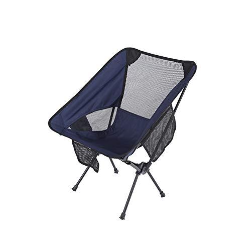 T-ara Suave y Confortable Ultra-luz Plegable Asiento al Aire Libre Picnic Tienda de campaña Caminata excursión de Pesca portátil una Silla de Carga Desmontable diseño de Moda (Color : Light Blue)