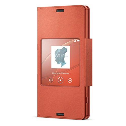 Sony Smart Style Cover SCR26 für das Sony Xperia Z3 Compact- Mandarinrot