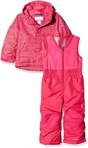 Columbia Enfant Combinaison de Ski avec Veste, BUGA, Nylon, Rose (Cactus Pink Texture Print), Taille : 2T