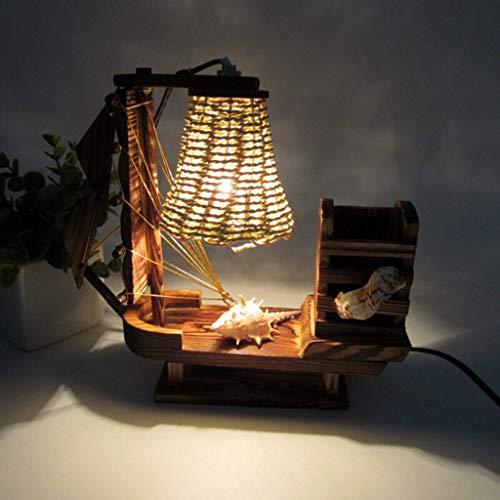 Lámpara Escritorio Aprendizaje de la navegación nocturna retro salón luz oficina lámpara de noche dormitorio lámpara de mesa de escritorio con la pluma de escritorio titular de adornos de decoración L