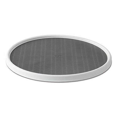 Copco 255-0186 Non-Skid Pantry Cabinet Lazy Susan Turntable, 18-Inch, White/Gray - 2555-0186
