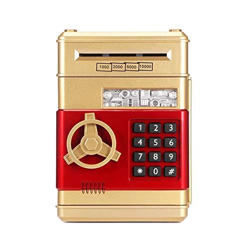 Allen Key Set 19.5x13.5cm Hucha electrónica caja de dinero de los niños digital dinero dinero dinero dinero seguro automático Gloden