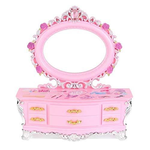 Caja de música rosa para chicas con diseño de bailarina de Alicia en el país de las maravillas, caja de joyería para niñas regalo B-15,5 cm.