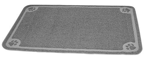 Internet's Best Cat Litter Mat - 47 x 32 - Oversized (XL) - Kitty Litter Mat and Trap - Crystal Catcher Mat and Scatter Control - Soft Paw Touch - Gray