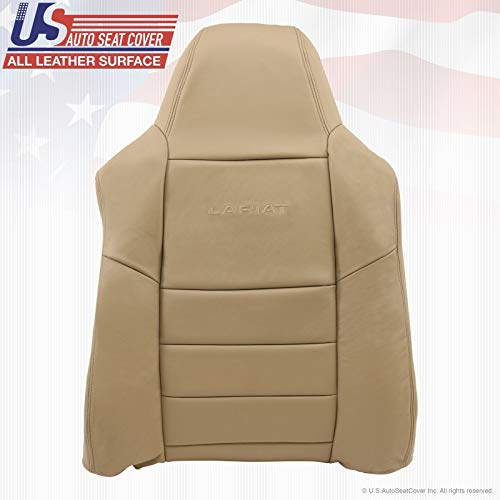 2002-07 Compatible with Ford F250 F-350 Driver Top Lean Back Replacement Leather Seat Cover Tan