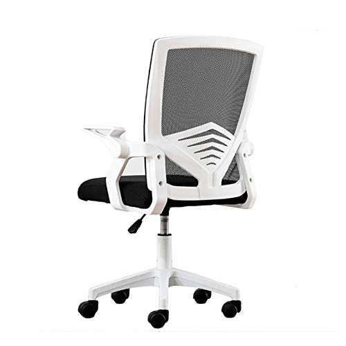 Office Chair Ergonomic Desk Chair Latex Seat Computer Chair Executive Adjustable Swivel Chair (Color : Black, Size : One Size)