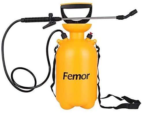 femor Drucksprüher Drucksprühgerät 5L Garten Sprühgerät mit verstellbare Düse | Säurebeständig