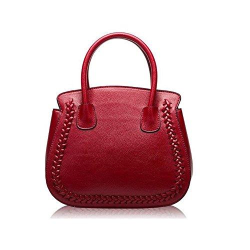 Dames Mode Stijl Handtassen, Echt Lederen Tas, Crossbody Tassen, Moderne Birkin Tas, Medium Size Handtas voor Strand, Reizen en Dagelijks gebruik, 19 X 14.5 X 24 CM, Paars