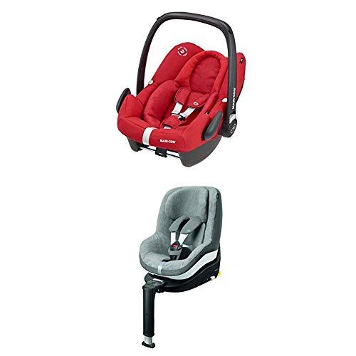 Maxi-Cosi Pearl Smart Kinderautositz, rückwärts & vorwärtsgerichtetes Fahren möglich, sparkling grey, Gruppe 1 (9-18 kg) + Pearl Sommerbezug, cool grey