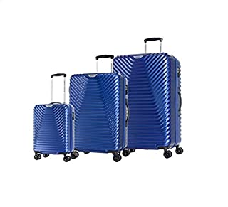 American Tourister Skycove Spinner Suitcases, Set of 3, Blue