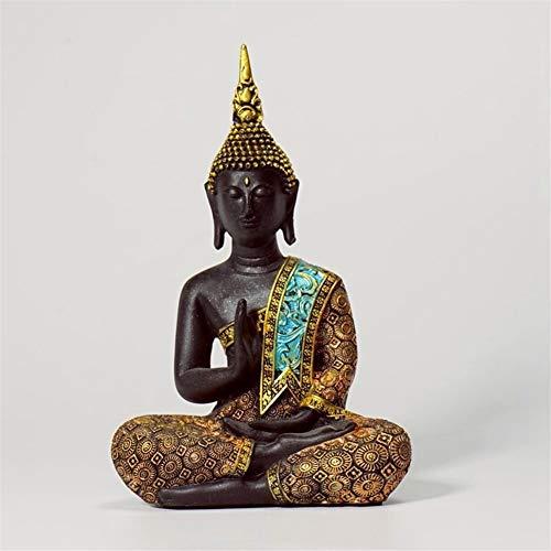 WGGTX Thai Buddha Statute Thailand Buda Resin Figurines Fengshui Livingroom Home