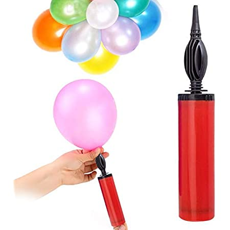 Party Propz Balloon Manual Hand Pump For Latex Foil, Helium Air Animal Rubber Baloon/Airpump/Balloons Pumper (Multicolor)