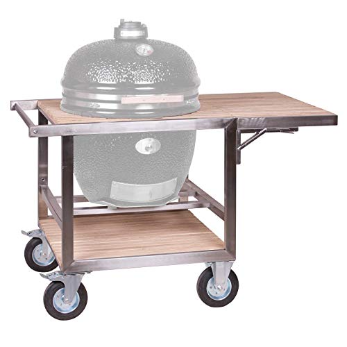 Monolith Le Chef Buggy mit Seitentisch Modell 2019 Keramikgrill Grill Grillzubehör