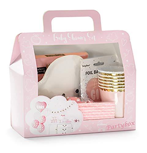 Haus der Herzen Babyparty-Deko Set Mädchen pink It's a Girl Komplett-Set 49 Teile
