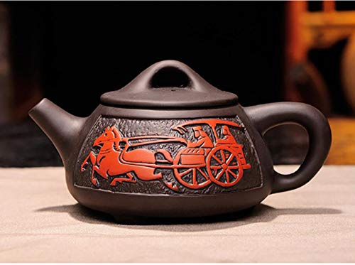 330 ml paarse klei theepot Yixing porselein Chinese Kung Fu Kung Fu Yixing theepot thee set paarse draak met de hand ketel klei,02