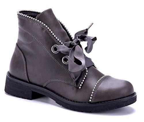 Schuhtempel24 Klassische Stiefeletten grau segus