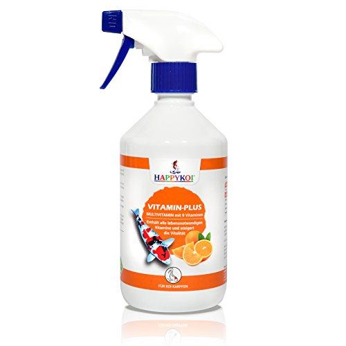 HAPPYKOI® Vitamine Plus Complément alimentaire liquide pour carpes koï (500 ml)