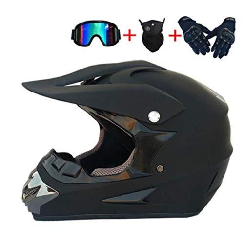 Casco De Motocross Motocicleta Para Adultos Deportes Todoterreno Casco De Enduro DH...