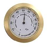 Higrómetro analógico de latón Medidor de humedad de tabaco para cigarros