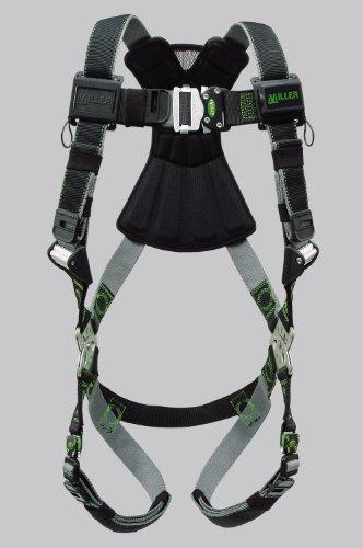 Miller Revolution Full Body Safety Harness with Quick Connectors, Size 2X & 3X, 400 lb. Capacity (RDT-QC/XXL/XXXLBK)