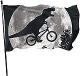 N/A USA Wächter Fahne Banner Home Flaggen Dinosaurier Ride Fahrrad Mond Baum Frühling Innenhof Garten für Familie Terrasse Wand Dekoration Fuß
